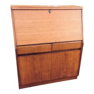 Vintage Mid-Century Modern Teak Secretary/Desk For Sale