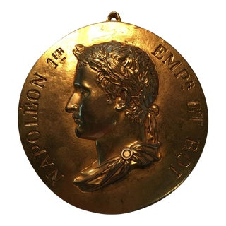 Gilt Bronze Medallion of Napoleon 1st For Sale