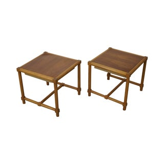 Tommi Parzinger Stools Reverse Top Tables - Pair For Sale