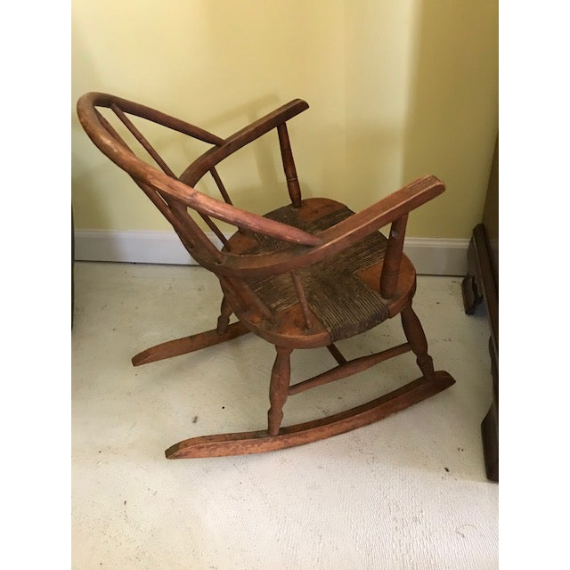 American 19th C American Child's Windsor Rocking Chair For Sale - Image 3 of 5