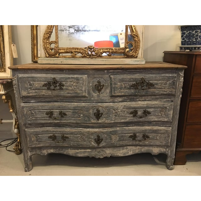 Blue French Painted Chest For Sale - Image 8 of 8