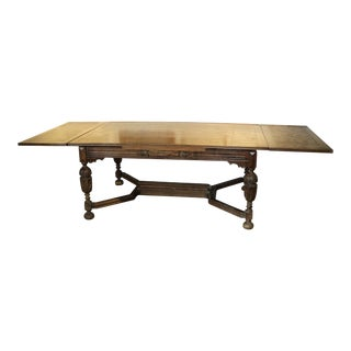 Early 20th Century Antique Harvest Farm Dining Table For Sale