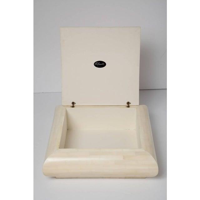 Large Alberto Escobar Tessellated Bone Box, Circa 1980 For Sale - Image 4 of 11
