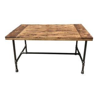 Walnut Top Farm Table For Sale