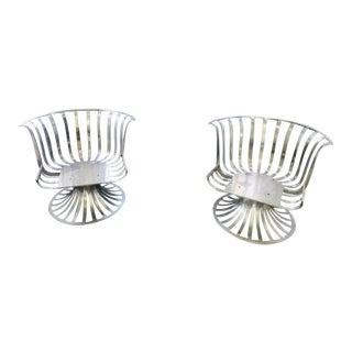 Vintage Woodard Mid-Century Outdoor Aluminum Chairs - a Pair