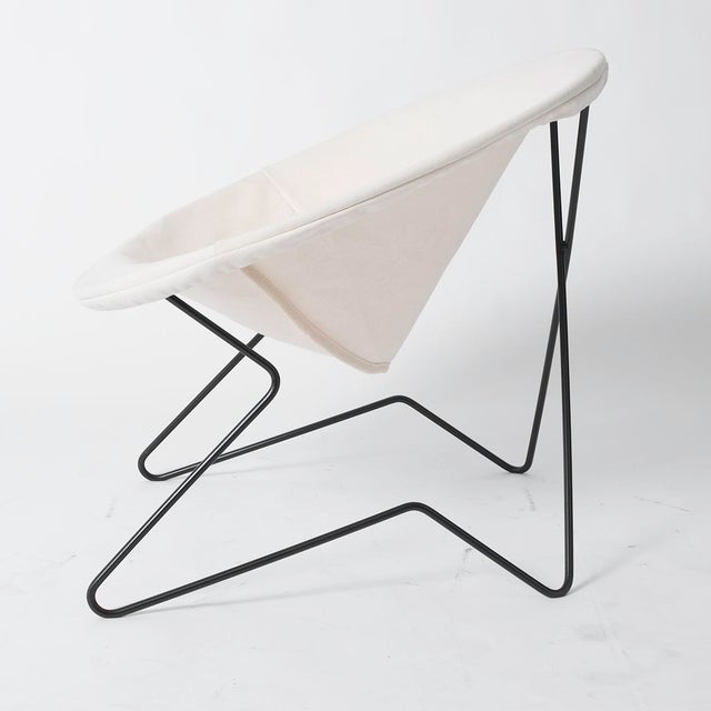 Single Cantilevered Modernist Hoop Chair with Canvas Cover For Sale In Los Angeles - Image 6 of 10