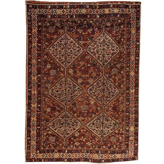 Antique 19th century, Persian Qashqai carpet. Contact dealer.