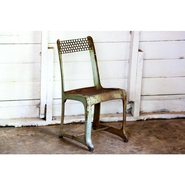 1950s Vintage Metal Envoy #13 Vintage Americana School Chair For Sale - Image 9 of 9
