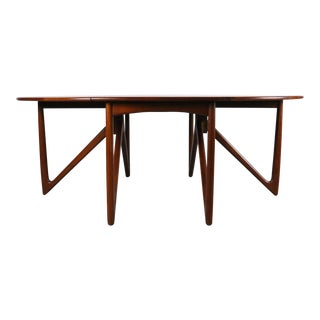 Peter Hvidt and Orla Mølgaard-Nielsen Teak Drop-Leaf Teak Table For Sale