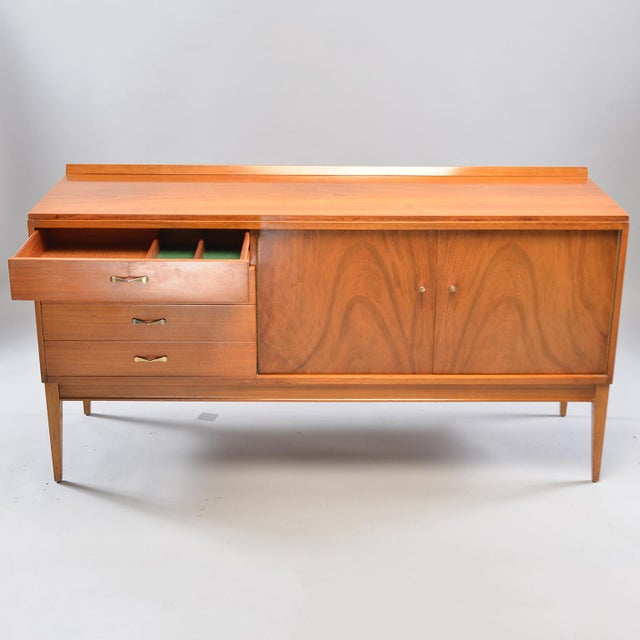 1950s Mid-Century English Walnut Sideboard For Sale - Image 5 of 13