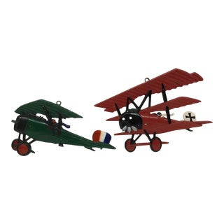 Wrought Iron Plane Models, 1975 - A Pair For Sale