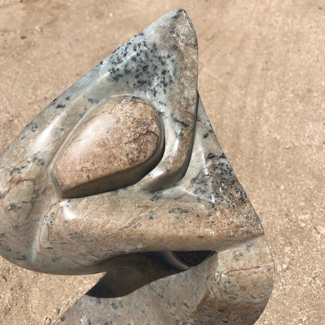 """Beautiful hand carved female figure sculpture. Signed """"James"""" on the bottom back. Had a couple areas of wear. Beautiful..."""