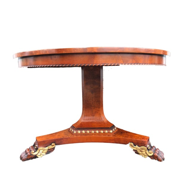 French French Empire Walnut Pedestal Table For Sale - Image 3 of 13