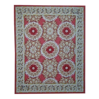 """Pasargad Aubusson Hand Woven Wool Rug - 9'10"""" X 14' 0"""""""