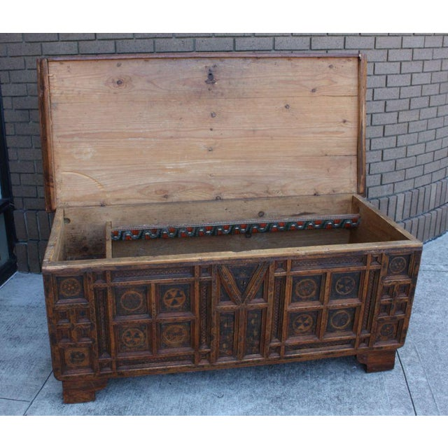 Wood A Rustic Swiss Baroque Coffer or Dowry Chest For Sale - Image 7 of 7