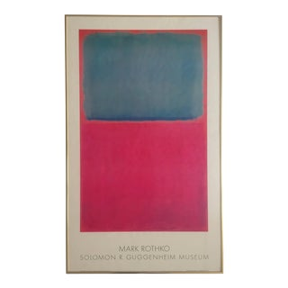 Mark Rothko Rare 1978 Pace Editions Lithograph Print Framed Guggenheim Museum Poster