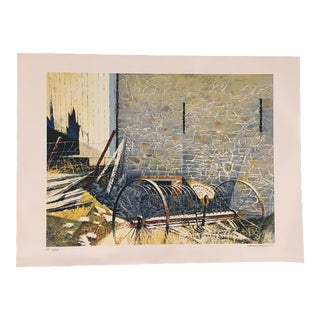 "Howard Koslow ""Retired"" Lithograph For Sale"