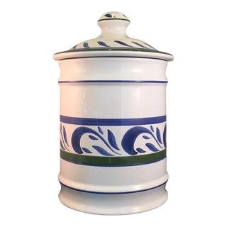 Herend Village Pottery Porcelain Canister