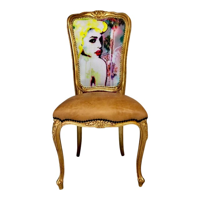 """Limited Edition #1 or 20 """"Golden Goddess"""" Daf House Art Piece Chair - Image 1 of 6"""