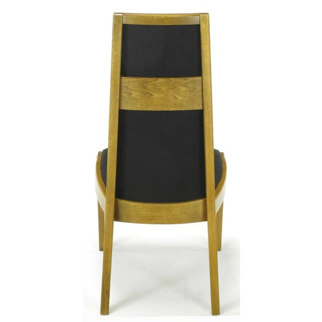 Silk Six Sculpted Ash Tall Back Kroehler Dining Chairs For Sale - Image 7 of 10