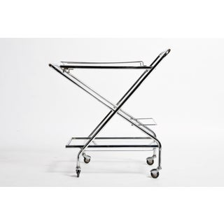 Mid-Century Modern Hungarian Metal Serving Cart Preview