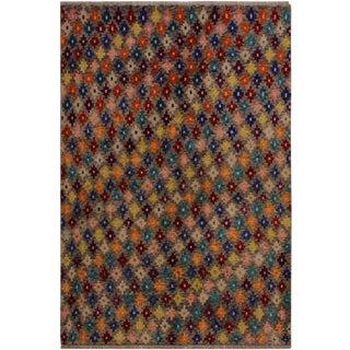 1990s Southwestern Balouchi Alethea Gray/Blue Wool Rug - 4'10 X 6'6 For Sale