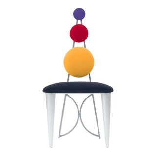 American Multicolored Panel Chairs For Sale