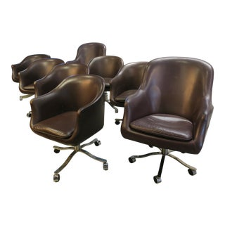 Nicos Zographos Swiveling Conference Chairs - Set of 8