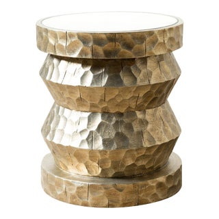 Bliss Studio Hammered Silver Side Table For Sale