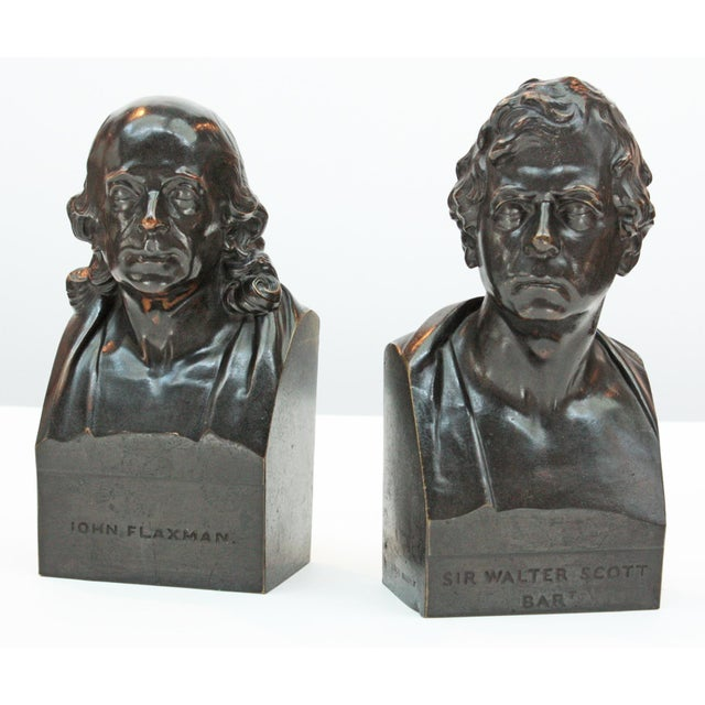 John Flaxman (1755-1826) bronze bust published by S. Parker after the works by sculptor Samuel Joseph (1791-1850) marked...