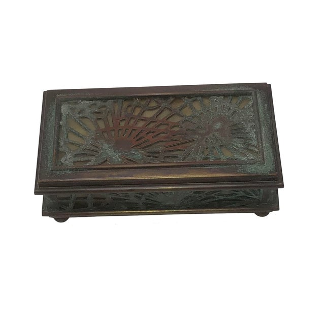Glass Tiffany Studios Stamp Box For Sale - Image 7 of 8