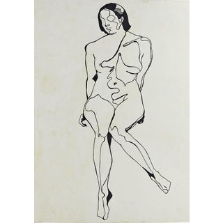 Contour Abstract Nude Drawing