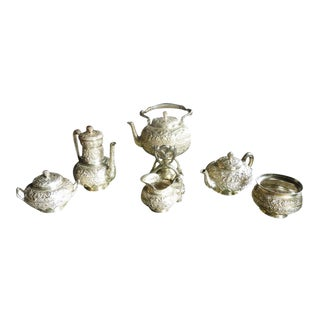 1870s Tiffany & Co. Heavy Repousse Sterling Silver Tea Set - 6 Pc. For Sale