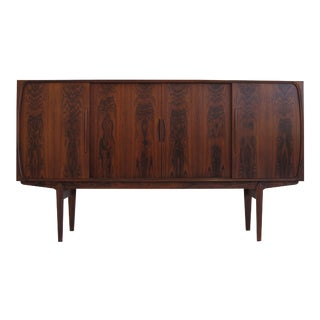 Danish Brazilian Rosewood Sideboard With Center Bar For Sale