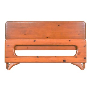 Mid Century Modern Franklin Shockey Sculpted Pine Full Size Bed For Sale