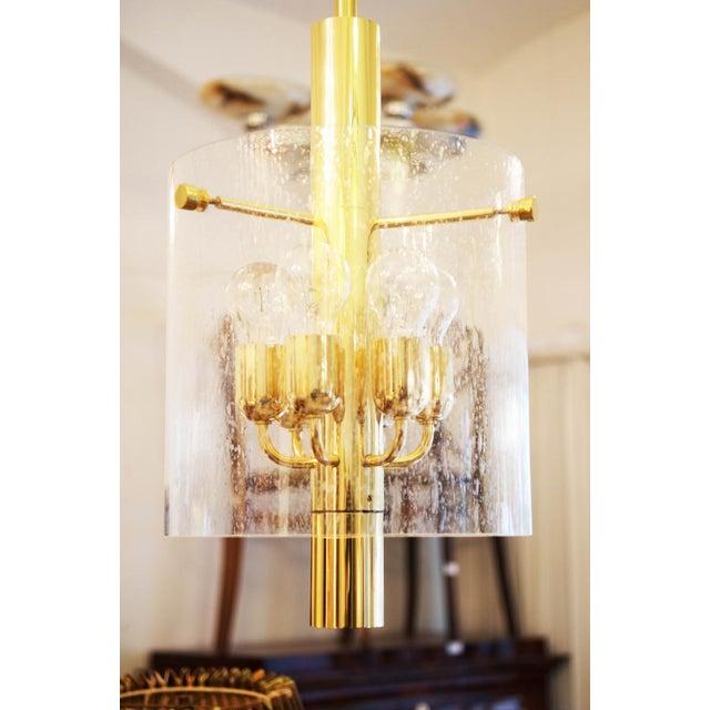 Metal Model 4298 hanging lamp from Glashütte Limburg For Sale - Image 7 of 11