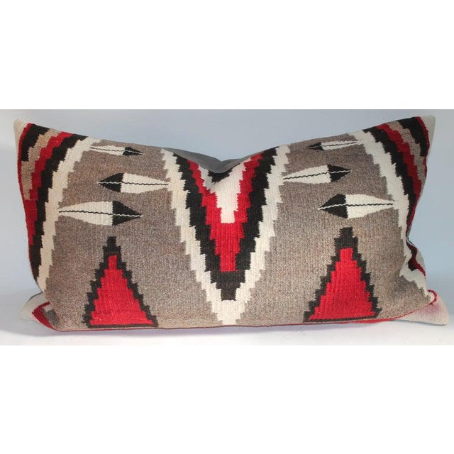 Tan Navajo Indian Weaving Bolster Pillows - a Pair For Sale - Image 8 of 9
