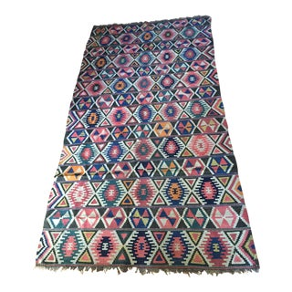 Early 20th Century Shirvan Kilim Rug From Azerbaijan - 5′9″ × 9′ For Sale