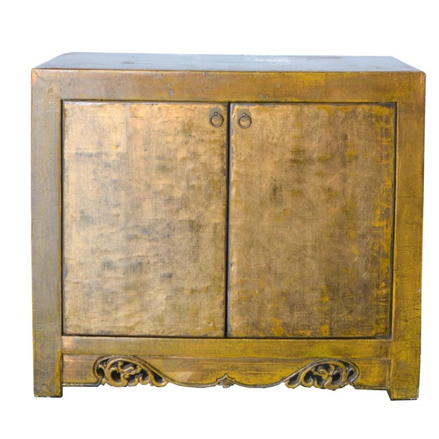 Wood 2000s Asian Modern/Art Deco Lacquer Cabinet For Sale - Image 7 of 7