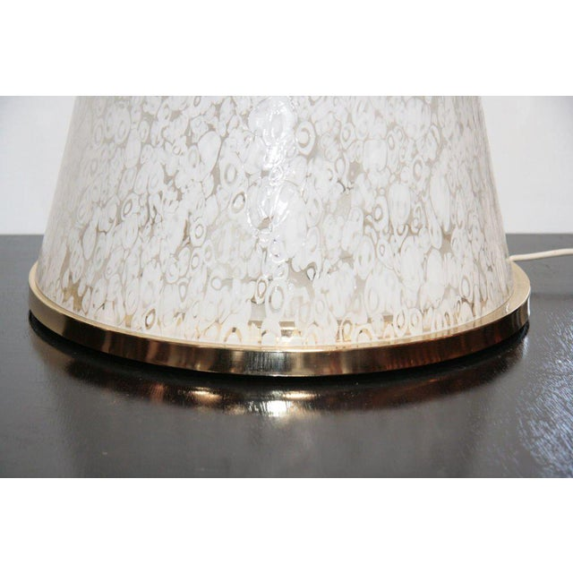"""70s """"ESPERIA"""" Pyramid Glass Floor or Table Light For Sale - Image 5 of 7"""