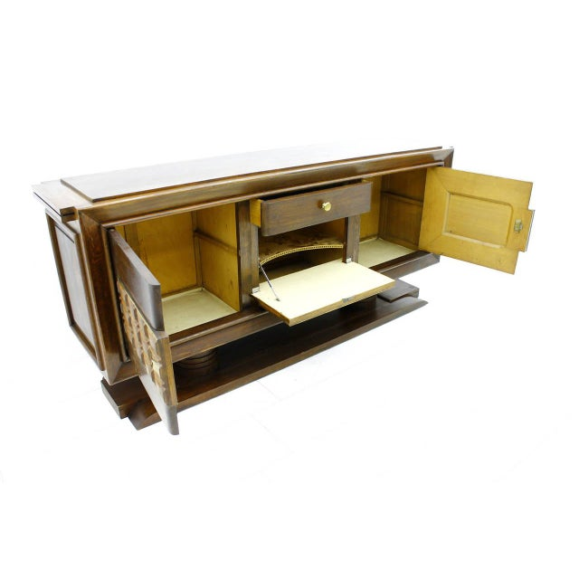 Brutalist Credenza, Sideboard by Charles Dudouyt, France, Circa 1940s For Sale - Image 6 of 10