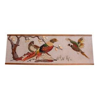Mid Century Modern Mosaic Bird Art