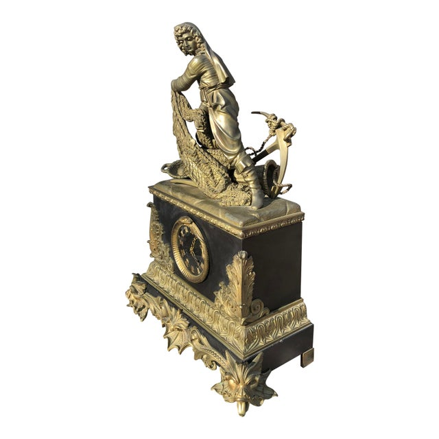 Metal 18th Century Vincenti & Cue Pendulum Mantle Clock For Sale - Image 7 of 8