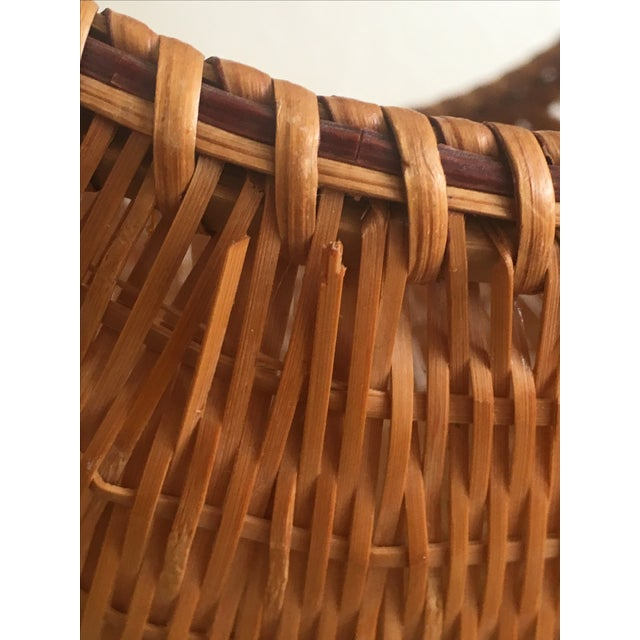 Fall Harvest Round Rattan Basket - Image 6 of 6