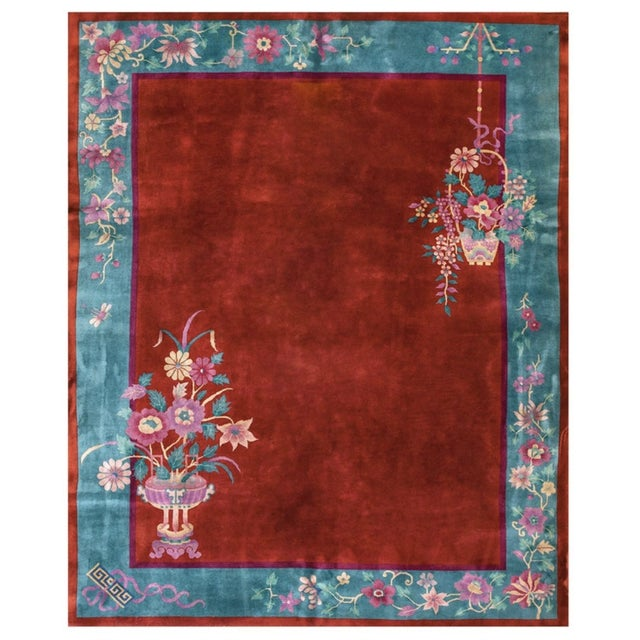 """Antiique Chinese Art Deco Rug 8'0"""" X 9'8"""" For Sale In New York - Image 6 of 6"""