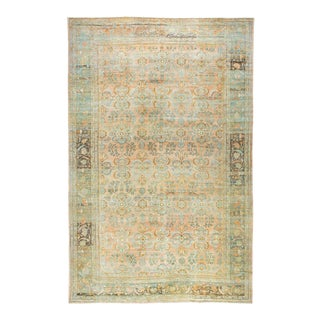 Pale Salmon 20th Century Oversize Mahal Rug, 12'7'' X 19'6'' For Sale