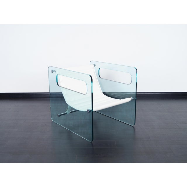 "Tonelli ""Naked"" Glass Lounge Chair by Giovanni Tommaso For Sale - Image 4 of 7"