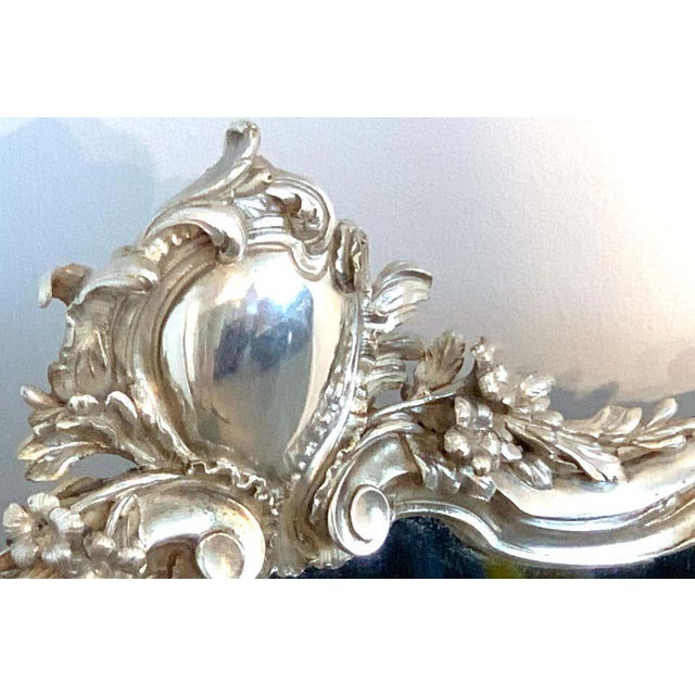 French Silver Plated Dressing Mirror For Sale - Image 4 of 12