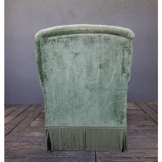 19th Century Light Green Velvet Chaise - Image 3 of 8