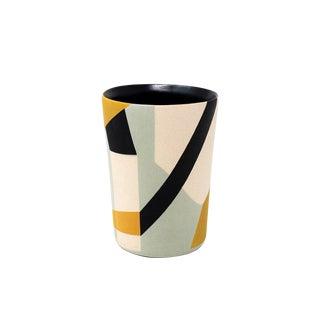 Mid-Century Style Handmade Ceramic Rocks Glass - Yellow For Sale